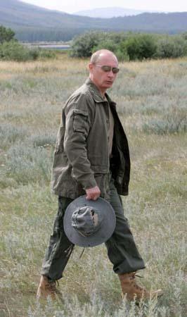 Vladimir Putin Camping