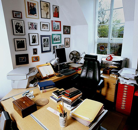 Michael Frayn's writing room