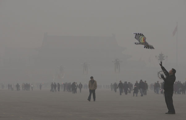 Guardian photo of China's pollution