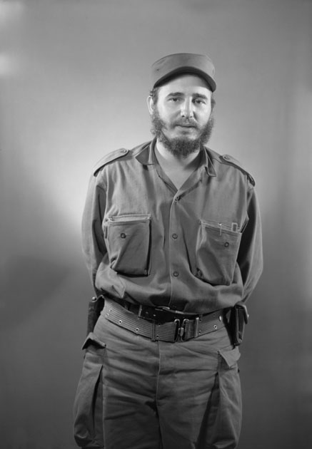 Havana, Cuba: A portrait of Castro taken a few days after the overthrow of Batista in January 1959