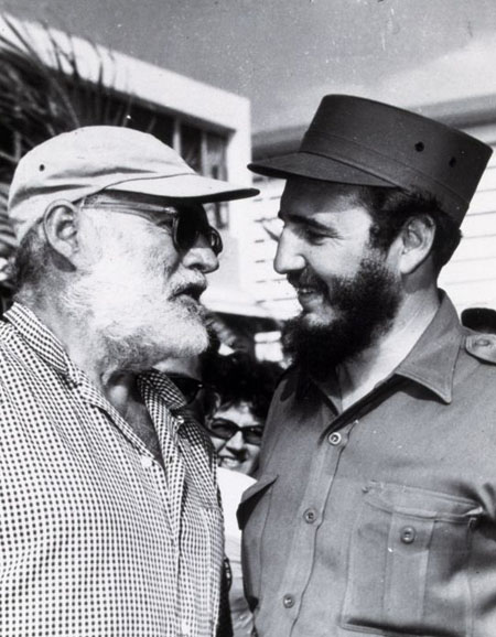 Cuba: with American author Ernest Hemingway in 1960