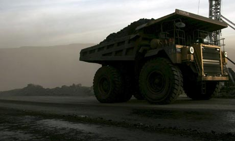 Truck in Chinese coal mine