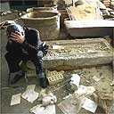 Looting debris at Iraqi National Museum