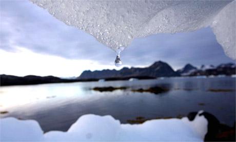 A melting iceberg