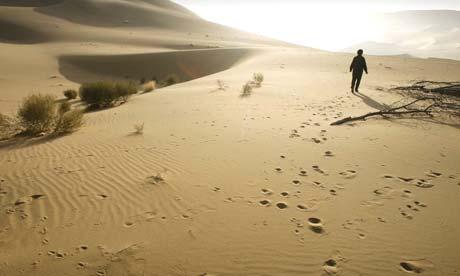Expanding desert in China's Gansu province