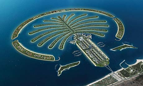 The Palm Jumeirah, in Dubai