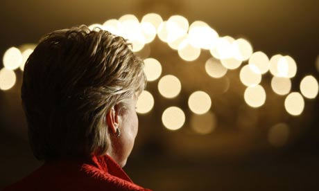 Hillary Clinton at a fundraiser in Washington, DC