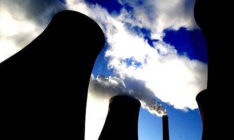 Cooling towers at Eggborough power station, near Selby