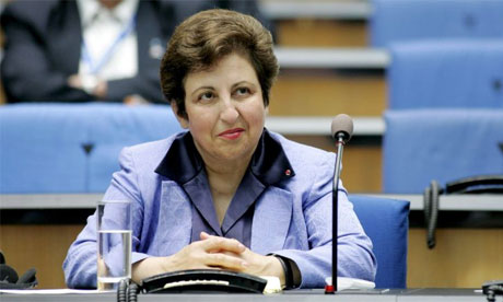 Shirin Ebadi at a media forum in Germany this month
