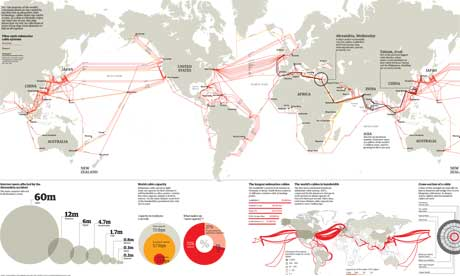 Submarine cables world map. Click image for full-size version (Graphic: Telegeography.com)