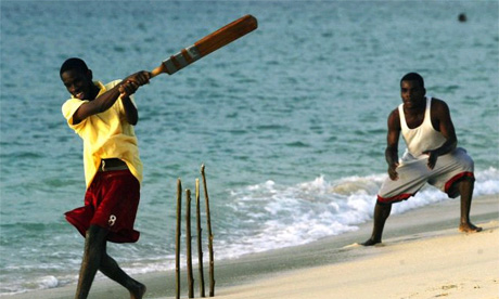 pics of cricket in the oddest/wildest of places BeachCricket460HamishBlairGettyImages