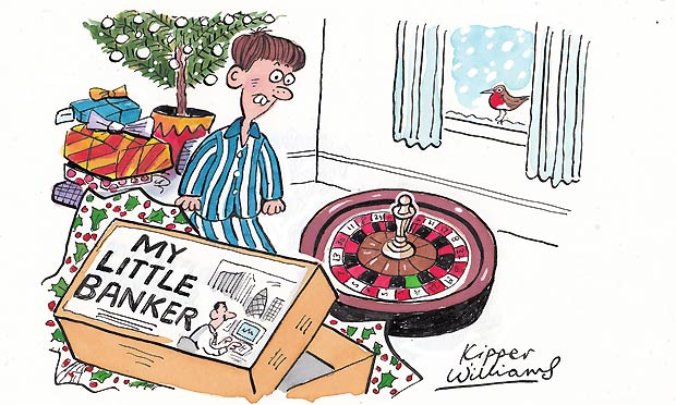 Kipper Williams Christmas cartoon - banker