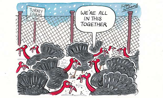 Kipper Williams Christmas Cards 2012 - turkeys