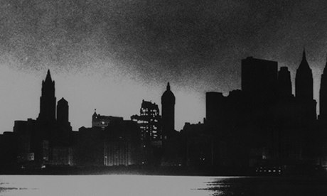 New York City skyline, during blackout of November 9, 1965.