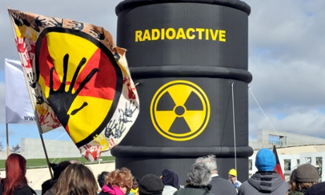 Protesters opposing the national radioactive waste dump proposed for Muckaty in the Northern Territory in 2011.